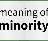 """The term """"Minority""""; Not For Teachers Only."""