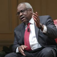 Supreme Court Associate Justice Clarence Thomas and the Declaration of Independence.