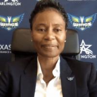 Vickie Johnson in rare WNBA head coach position as a Black woman.