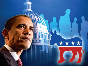 democratic party and barack obama The democratic party underwent a dramatic ideological obama, barack carter, jimmy democrats pres barack obama (centre) and former presidents bill clinton.