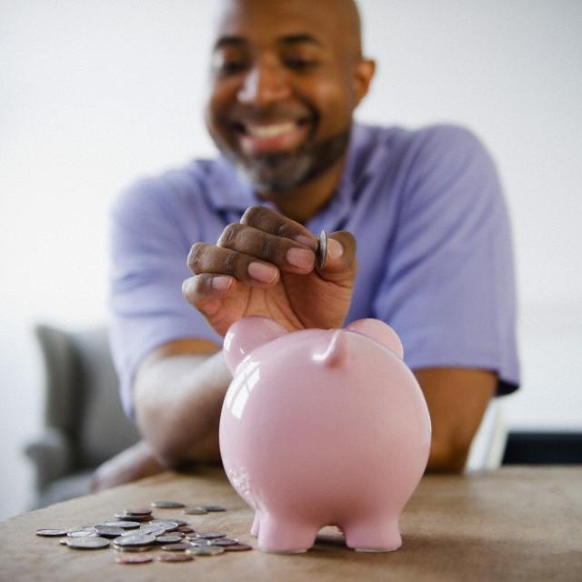 Image result for black man saving money