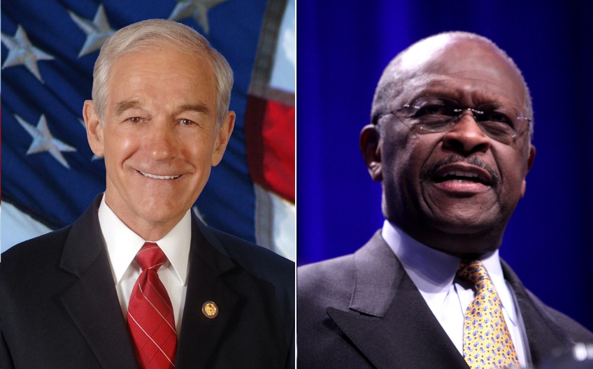 Ron Paul is a libertarian, Herman Cain is a far right conservative