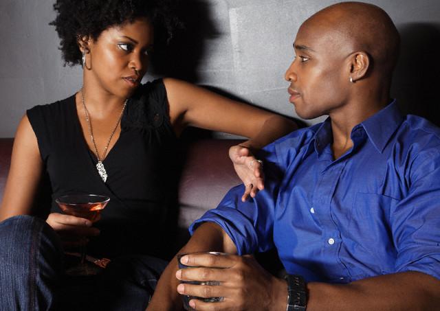 black couple talking 2021