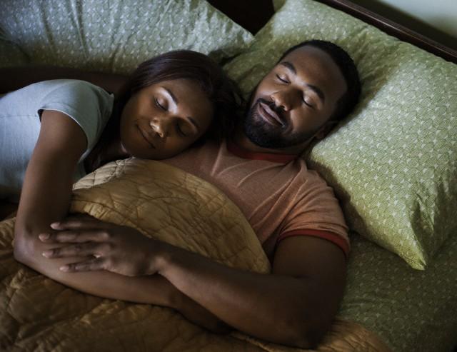 sleeping - black couple