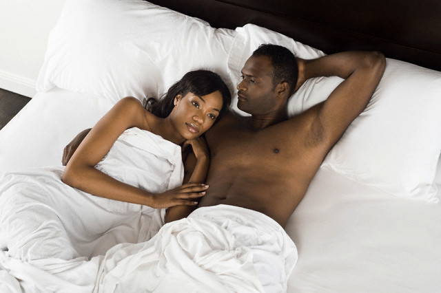 Image result for black woman and man in bed
