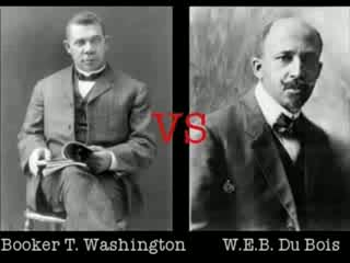 e.b dubois and booker t washington essay Web du bois and booker t washington essay sample two great leaders of the black community in the late 19th and 20th century were web du bois and booker t washington these men offer different strategies for dealing with the problems of poverty and discrimination facing black americans.