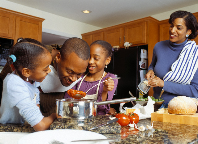 kids in the kitchen: a family affair. : thyblackman