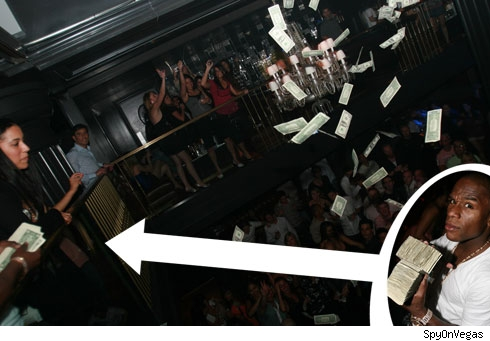 Floyd Mayweather Jr Spends 100 000 At The Strip Club