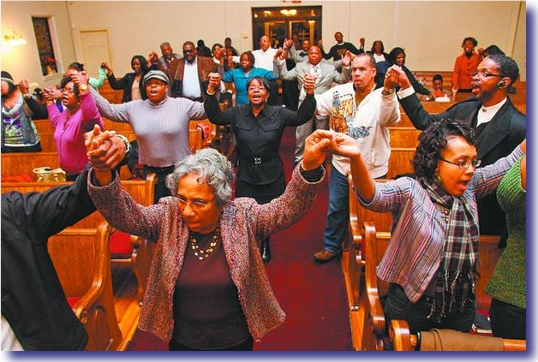 The experience of going to a black church for a project