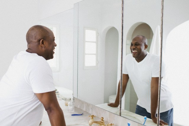 Black Man Looking In Mirror Online Image Arcade
