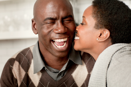 Images of black people in love