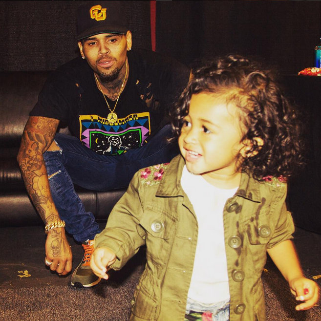 Chris Brown Twitter Post Daughter Royalty Is His