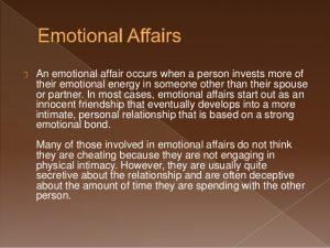 How to stop emotional affair