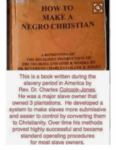 How To Make A Negro Christian.
