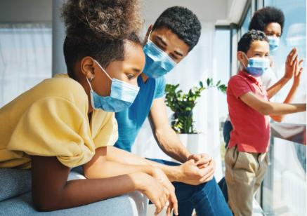 African American and healthcare covid - black family - coronavirus 2020