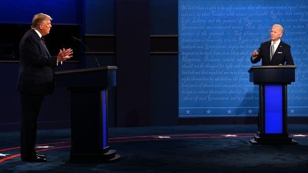 trump - biden debate in 2020