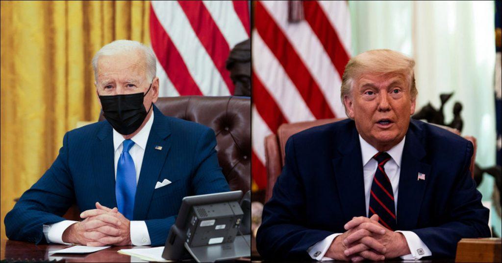 JoeBiden-DonaldTrump-First100daysinOffice-2021