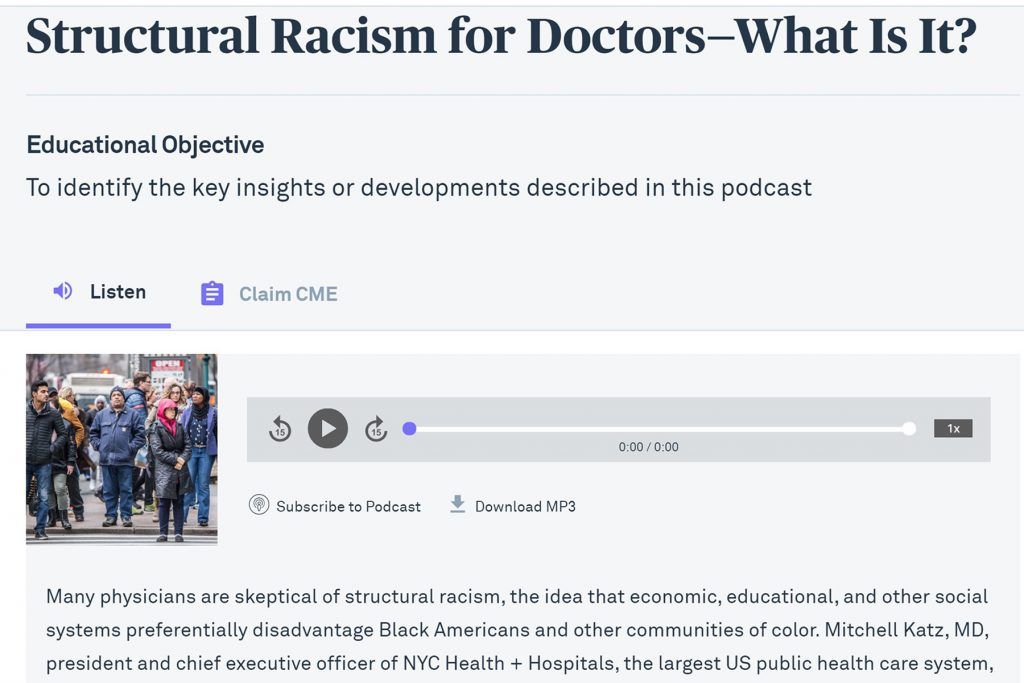 Physician is Racist