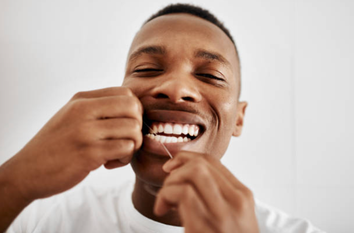 Vancouver  dentist flossing